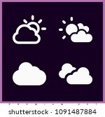 set of 4 cloudy filled icons... | Shutterstock .eps vector #1091487884