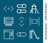 set of 9 slide outline icons...