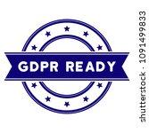 gdpr ready seal template.... | Shutterstock .eps vector #1091499833