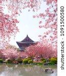 toji kanchi in temple  kyoto ...   Shutterstock . vector #1091500580