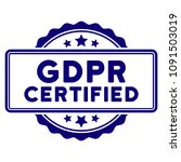 gdpr certified seal template.... | Shutterstock .eps vector #1091503019