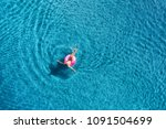 aerial view of young woman... | Shutterstock . vector #1091504699