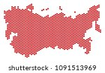 honeycomb ussr map. vector... | Shutterstock .eps vector #1091513969