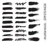 set of black brushes.... | Shutterstock .eps vector #1091514626