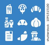 set of 9 food filled icons such ... | Shutterstock .eps vector #1091515100