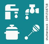 set of 4 tool filled icons such ... | Shutterstock .eps vector #1091518718