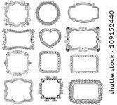 hand drawn frames | Shutterstock .eps vector #109152440