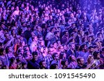 barcelona   may 16  the crowd... | Shutterstock . vector #1091545490
