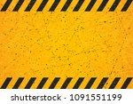 a worn black striped rectangle. ... | Shutterstock .eps vector #1091551199