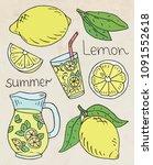 summer iluustration of fresh... | Shutterstock .eps vector #1091552618