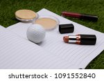 golf ball with cosmetic for... | Shutterstock . vector #1091552840