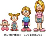 cartoon girl growing up from... | Shutterstock .eps vector #1091556086