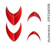 flat modern arrow sign icon...
