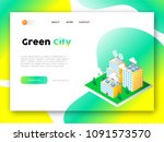 green city web app landing page....