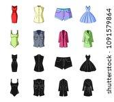 women clothing black cartoon...   Shutterstock .eps vector #1091579864