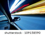 car on the road wiht motion... | Shutterstock . vector #109158590