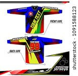 long sleeve motocross jerseys t ... | Shutterstock .eps vector #1091588123