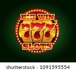 casino vector golden slots... | Shutterstock .eps vector #1091595554
