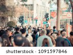 blur out of focus. anonymous... | Shutterstock . vector #1091597846