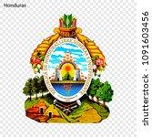 symbol of honduras. national... | Shutterstock .eps vector #1091603456