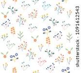 seamless floral pattern... | Shutterstock .eps vector #1091612543