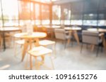 blurred background cafe coffee... | Shutterstock . vector #1091615276