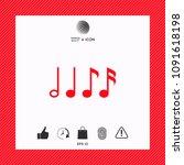 symbol of music  notes.... | Shutterstock .eps vector #1091618198