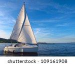 Sail Boat On Lough Derg ...