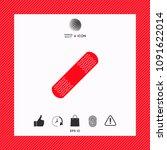 medical  plaster  adhesive... | Shutterstock .eps vector #1091622014