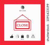 information plate with close...   Shutterstock .eps vector #1091623199