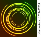 vibrant glowing neon circles... | Shutterstock .eps vector #1091627894