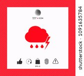 cloud thunderstorm lightning... | Shutterstock .eps vector #1091635784