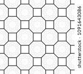 black and white seamless... | Shutterstock . vector #1091643086