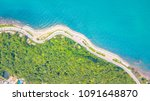aerial view of  beautiful beach ... | Shutterstock . vector #1091648870