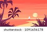 vector cartoon style background ...   Shutterstock .eps vector #1091656178