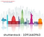 united state of america... | Shutterstock .eps vector #1091660963