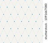 colorful seamless flower polka...   Shutterstock .eps vector #1091667080