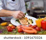 Cook Chef Decorating Garnishing Prepared - Fine Art prints