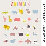 cute animals vector...