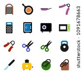 solid vector icon set  ... | Shutterstock .eps vector #1091678663