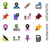solid vector icon set  ... | Shutterstock .eps vector #1091678753