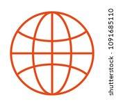 flat globe icon design. vector...   Shutterstock .eps vector #1091685110