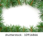 frame made from pine branches ... | Shutterstock . vector #10916866