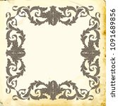 retro baroque decorations...   Shutterstock .eps vector #1091689856