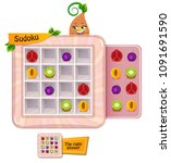 sudoku game for children with... | Shutterstock .eps vector #1091691590