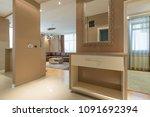 interior of a modern open plan...   Shutterstock . vector #1091692394