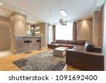 interior of a modern open plan...   Shutterstock . vector #1091692400