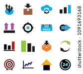 solid vector icon set   graph... | Shutterstock .eps vector #1091693168