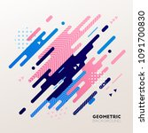 abstract geometric vector... | Shutterstock .eps vector #1091700830