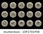 cartoon circle old stone... | Shutterstock . vector #1091701958
